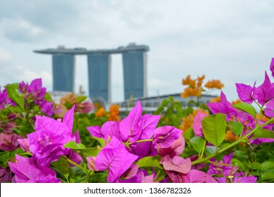 Singapore - January 25, 2019: Views of Marina Bay Sands favorite locations in Singapore