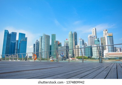 Singapore - January 27, 2019: Singapore cityscape is beautiful during the day
