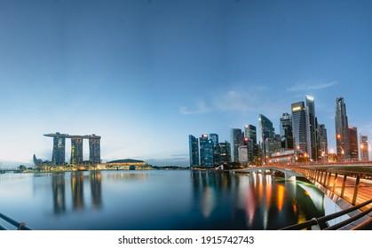 Singapore - January 5, 2020: Singapore Cityscape