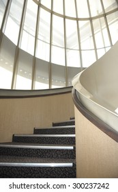 Singapore, Singapore - July 12, 2015 : View of the spiral staircase at Victoria Concert Hall, Singapore taken in the day on July 12, 2015