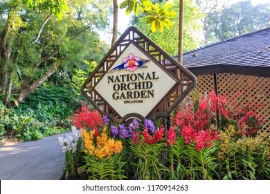 Singapore - July 12, 2018: National Orchid Garden At Singapore Botanic Gardens