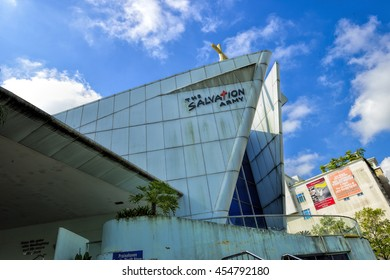 SINGAPORE - JULY 16, 2016: Day view of The Salvation Army - Red Shield Industries in Upper Bukit Timah Road, Singapore. Close to Hillview MRT Station (DT3).