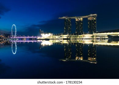Singapore - July 17: Marina Bay Sands Hotel in the early morning, July 17 2013.