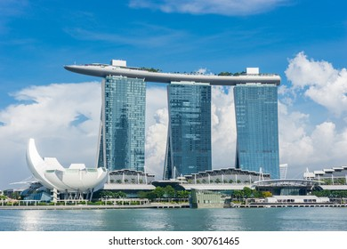 Singapore - July 25, 2015. The Marina Bay Sands Resort Hoter on July 23, 2015.