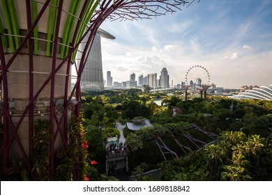 SINGAPORE - JULY 25 : Garden by The Bay, is a park spanning 101 hectares of reclaimed land in central Singapore. It's had the largest tree are main attraction for tourist on July 25, 2015
