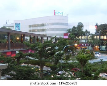 SINGAPORE - JULY 26, 2018: Singapore International Merchandising Mart Mall (IMM) is located within walking distance and visible from Jurong East. It is Singapore's largest outlet mall.