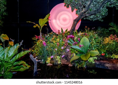 Singapore - July 27 2018: Singapore Garden Festival 2018 held at award winning Gardens by the Bay.