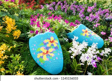 Singapore - July 27 2018: Orchard Extravanganza event in Flower Dome, Gardens By The Bay.