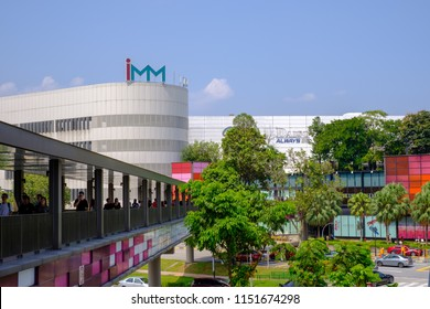 Singapore - July 28, 2018 : IMM Outlet Mall is a department store that collects various outlet outlet brands. Most in Singapore. This shop is located in Jurong East.