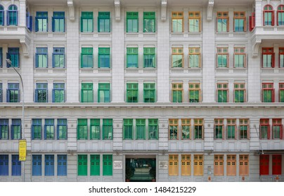 Singapore - July 6, 2019 : The Old Hill Street Police Station (the MICA Building), home to the Ministry of Communications and Information and the Ministry of Culture, Community and Youth in Singapore.