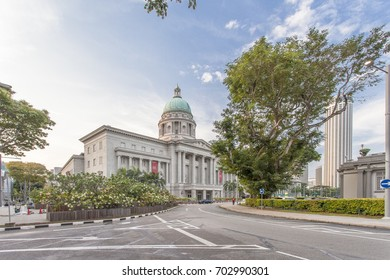 Singapore - July 7,2017 : Victoria Theater and Concert Hall is a performing arts center in the Central Area of Singapore in Singapore on July 7,2017.