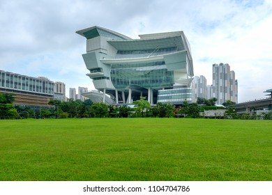 SINGAPORE - JUNE 1, 2018_The Star Vista, part of a 15-storey mixed development built in Vista Exchange, one-north precinct on green field. The place is located next to Buona Vista MRT Interchange