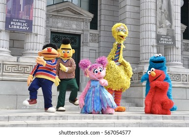 Singapore - June 11, 2014: Sesame street muppets performing in Universal Studios Singapore.