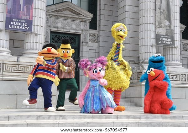 Singapore - June 11, 2014: Sesame street muppets performing in Universal Studios Singapore.