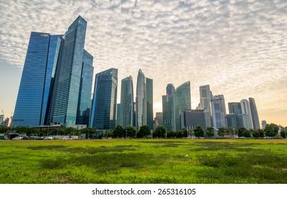 Singapore - June 20, 2014: Singapores Central Business District.