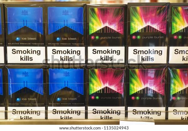 Singapore June 20 2018 Marlboro Cigaretts Stock Photo (Edit