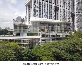 Singapore - June 20 2018: Mixed type of housing at Tanjong Pagar district.