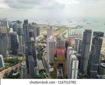 Singapore - June 20 2018: Public housing at Tanjong Pagar district.