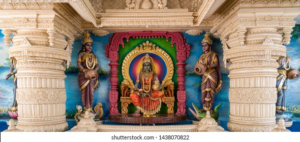 Singapore / Singapore - June  2019: Sri Krishnan Temple was established on Waterloo Street in 1870. It is the only South Indian Hindu temple in Singapore.