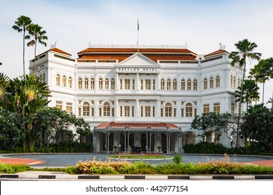 SINGAPORE - JUNE 22,2016 : The Raffles Hotel on JUNE 22, 2016 in Singapore. Opened in 1899, it was named after Singapore's founder Sir Stamford Raffles.
