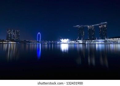 SINGAPORE - MARCH 10: World's most expensive standalone casino property at US$ 6.3 billion. Marina Bay Sands Hotel dominates the skyline at Marina Bay March 10, 2013 in Singapore.