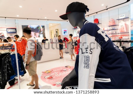 c2ada4fc79 SINGAPORE MARCH 13 2019 Fila Store Stock Photo (Edit Now) 1371258893 ...