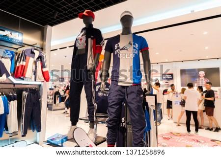 f2556d4442 SINGAPORE MARCH 13 2019 Fila Store Stock Photo (Edit Now) 1371258896 ...