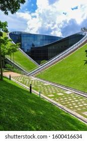 SINGAPORE - March 16, 2011: Building of NTU School of Art, Design and Media.