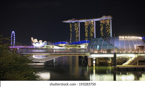 SINGAPORE - MARCH 17: Marina Bay Sands, an integrated resort fronting Marina Bay, March 17, 2014 in Singapore. The wold's most expensive standalone casino property.