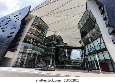 SINGAPORE - MARCH 2, 2015: Interior of Lasalle College of the Arts, Singapore. Lasalle College of the Arts is an arts educational institution in Singapore.