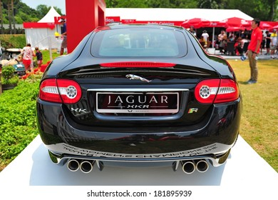 Attractive SINGAPORE   MARCH 2: Sponsor Jaguar Showcasing Its XKR Sport Coupe During  HSBC Womenu0027s Champions