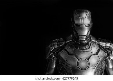 SINGAPORE - March  25,2017 : iron man bust closeup