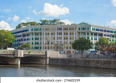 Singapore, Singapore - May 10, 2014: Old Hill St Police Station in Singapore.