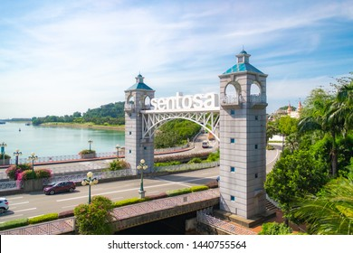 SINGAPORE - MAY 10, 2019: The entrance of Sentosa Island in Singapore.
