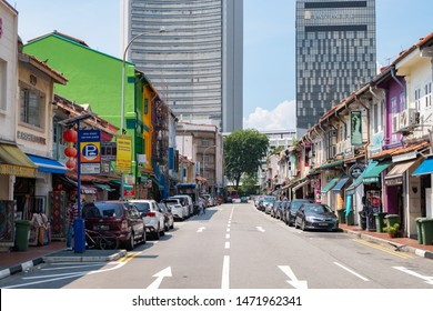 SINGAPORE - MAY 12, 2019: Store in Arab Street, the Kampong Glam neighbourhood famous for independent fashion stores and Middle Eastern cafes.