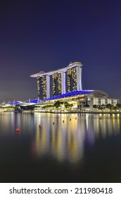 SINGAPORE - MAY 13: Marina Bay Sands, World's most expensive standalone casino property in Singapore at S$8 billion on May 13, 2014