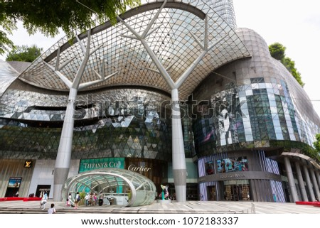 4e645de5120a SINGAPORE - MAY 14   ION Orchard shopping mall on Orchard Road in Singapore  on May