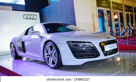 Singapore - May 15: Audi R8 supercar on display during Audi Fashion Festival 2014 on May 15, 2014 in Singapore