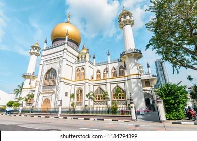 Singapore - May 16 2018: Masjid Sultan.