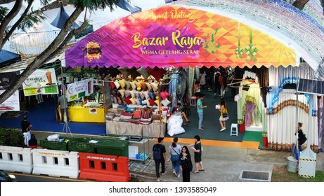 Singapore - May 2019: Geylang Serai Bazaar Raya
