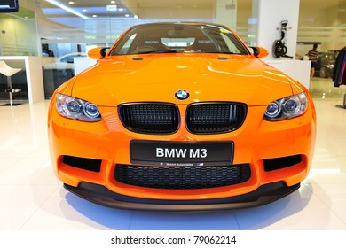 SINGAPORE - MAY 21: Static display of BMW M3 GTS sports coupe at Munich Automobiles BMW Service Centre Open House on May 21, 2011 in Singapore