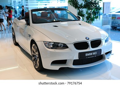 SINGAPORE - MAY 21: Static display of BMW M3 Cabriolet at Munich Automobiles BMW Service Centre Open House on May 21, 2011 in Singapore