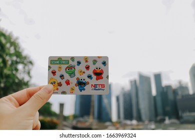 Singapore - May 27, 2018: The ez-link card was the very first contactless stored value card introduced for public transit use on the MRT, LRT and buses in April 2002.