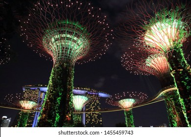 SINGAPORE - MAY 4, 2019: Landscape around Gardens by the Bay