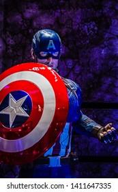 Singapore - May 4, 2019: Marvel Studios' Avengers, Endgame event at Suntec City, Singapore.