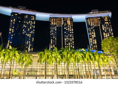 Singapore / Singapore - May 5 2019 : Marina Bay Sands Resort Hotel. It is an integrated resort and the worlds most expensive standalone casino property.