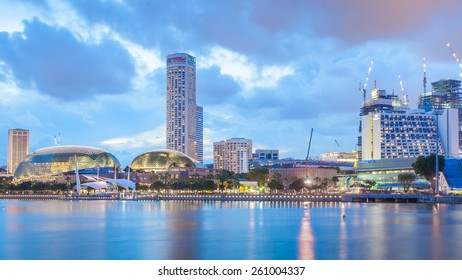 Singapore, Singapore - May 7, 2014: Esplanade, Urban building located in Marina Bay. Singapore.