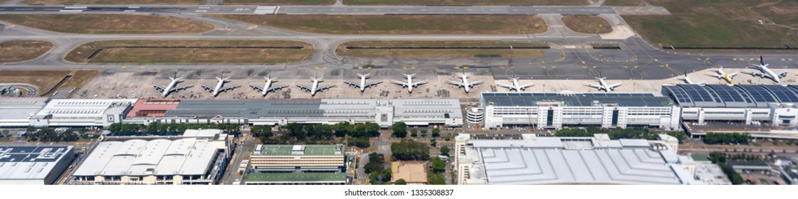 Singapore / Singapore - Nobember 2018: Changi Airport is one of the largest transportation hubs in Southeast Asia, located in Changi, Singapore.