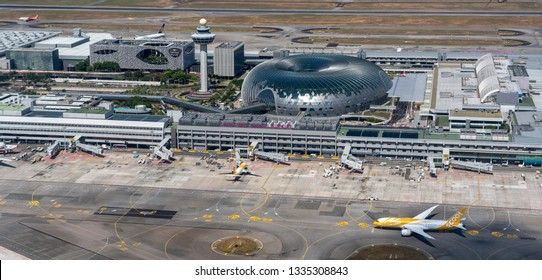 Singapore / Singapore - Nobember 2018: Jewel Changi Airport or Jewel is a complex at Changi Airport in Singapore, scheduled to open in April 2019.