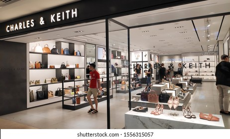 Singapore - Nov 02, 2019: Charles & Keith store outlet in Orchard, Singapore. This shop was founded by brothers Charles and Keith Wong.